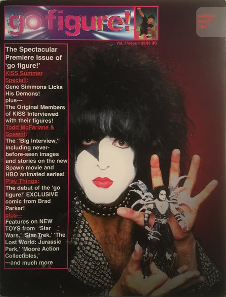 GO FIGURE MAGAZINE # 1 SET OF 4 KISS COVERS