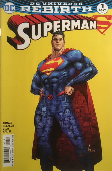 SUPERMAN # 1 VARIANT COVER (DC UNIVERSE REBIRTH) FIRST PRINTING