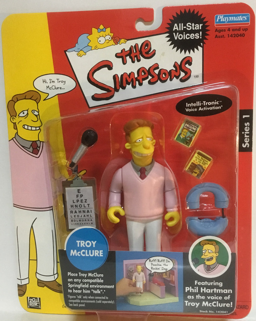 SIMPSONS WORLD OF SPRINGFIELD TROY McCLURE INTERACTIVE FIGURE