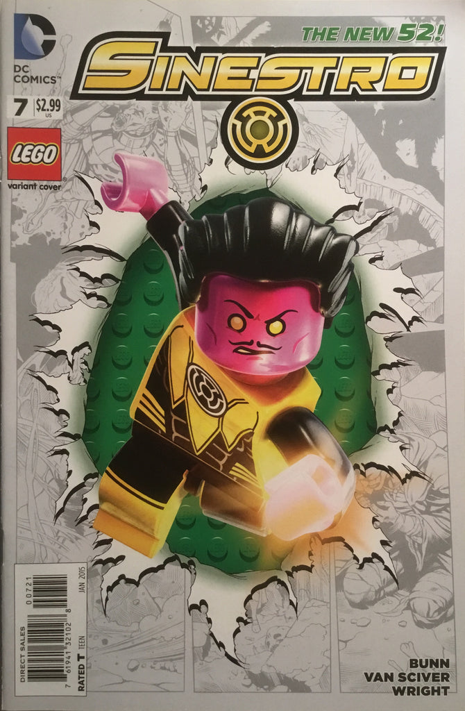 SINESTRO # 7 (THE NEW 52) LEGO VARIANT COVER
