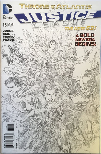 JUSTICE LEAGUE #15 (THE NEW 52) REIS 1:100 SKETCH VARIANT - Comics 'R' Us