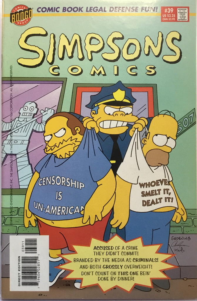 SIMPSONS COMICS # 39