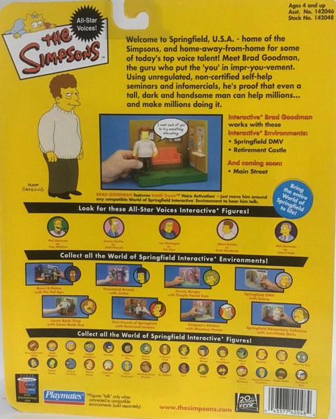 SIMPSONS WORLD OF SPRINGFIELD BRAD GOODMAN INTERACTIVE FIGURE