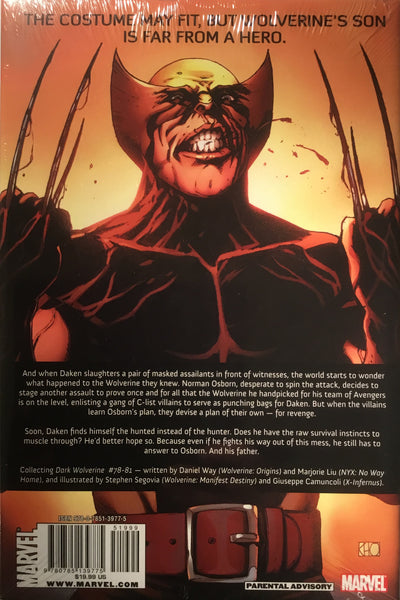 WOLVERINE : DARK WOLVERINE VOL 2 MY HERO HARDCOVER GRAPHIC NOVEL