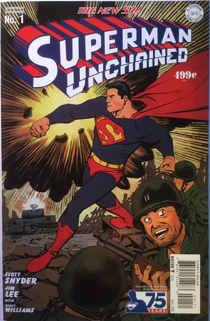 SUPERMAN UNCHAINED # 1 DAVE JOHNSON 1:75 VARIANT