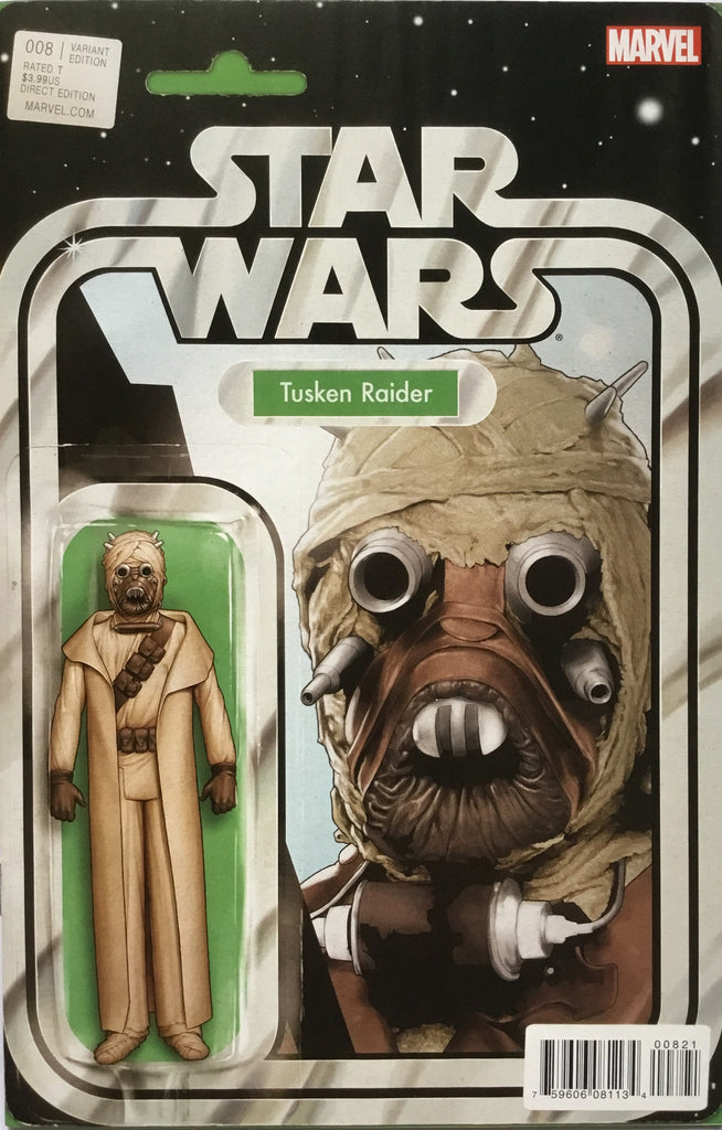 STAR WARS (MARVEL) # 8 TUSKEN RAIDER ACTION FIGURE VARIANT COVER
