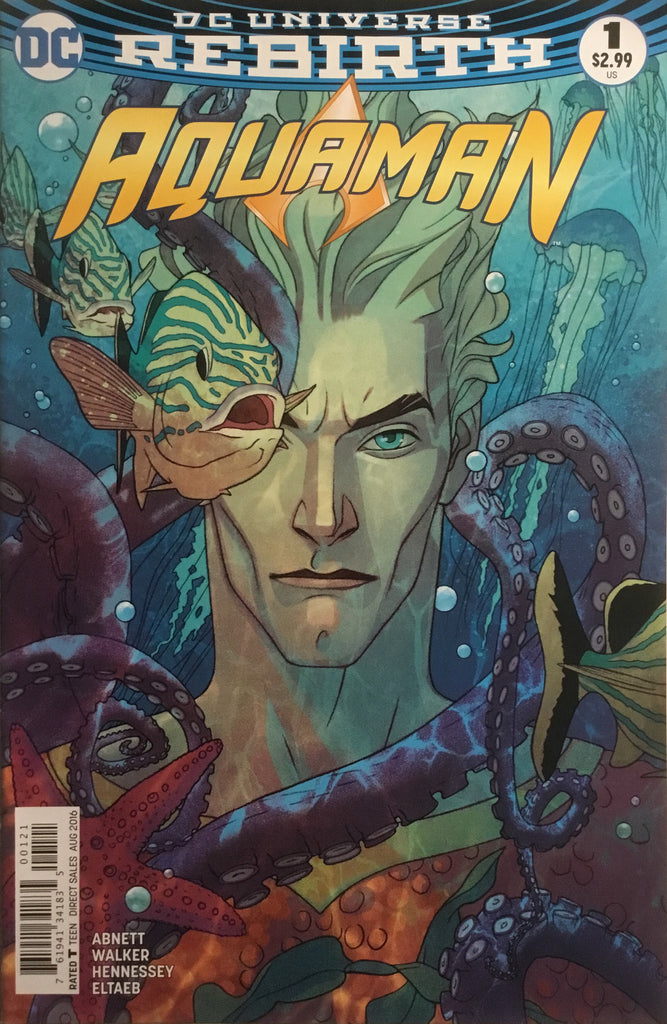 AQUAMAN # 1 VARIANT COVER (DC UNIVERSE REBIRTH) FIRST PRINTING - Comics 'R' Us