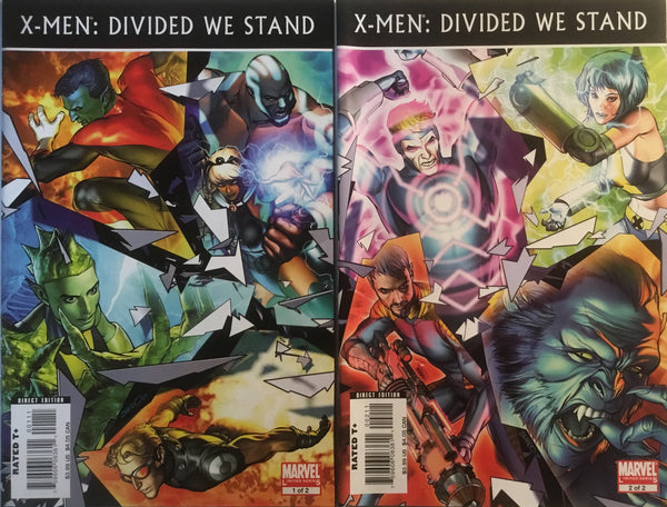 X-MEN : DIVIDED WE STAND # 1 & 2