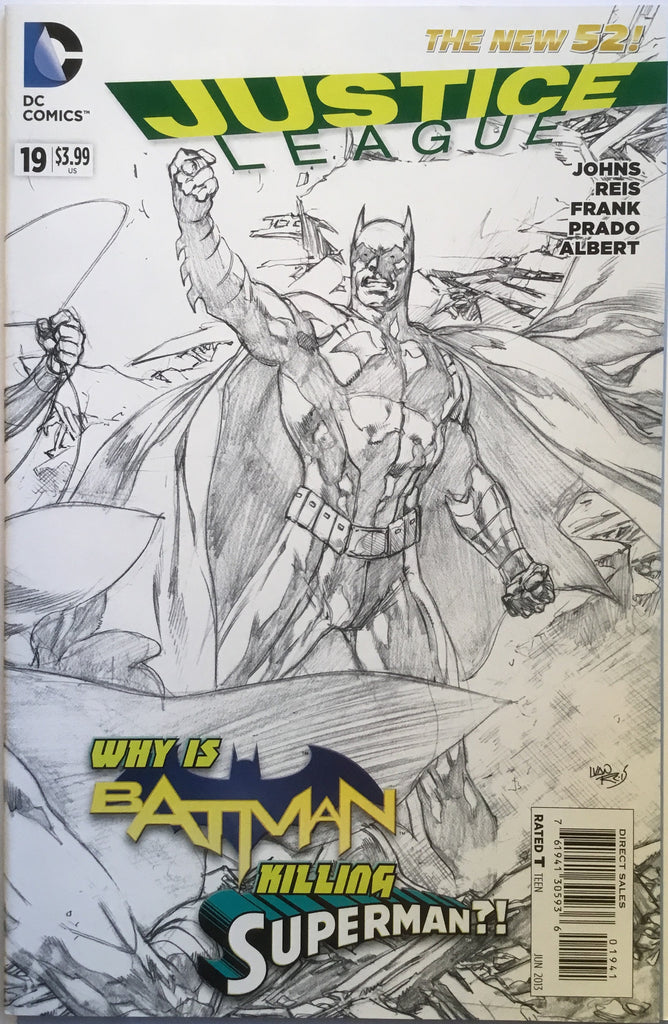 JUSTICE LEAGUE (THE NEW 52) # 19 REIS 1:100 SKETCH VARIANT