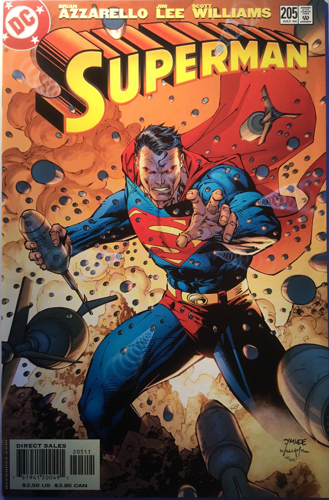 SUPERMAN # 205 JIM LEE COVER