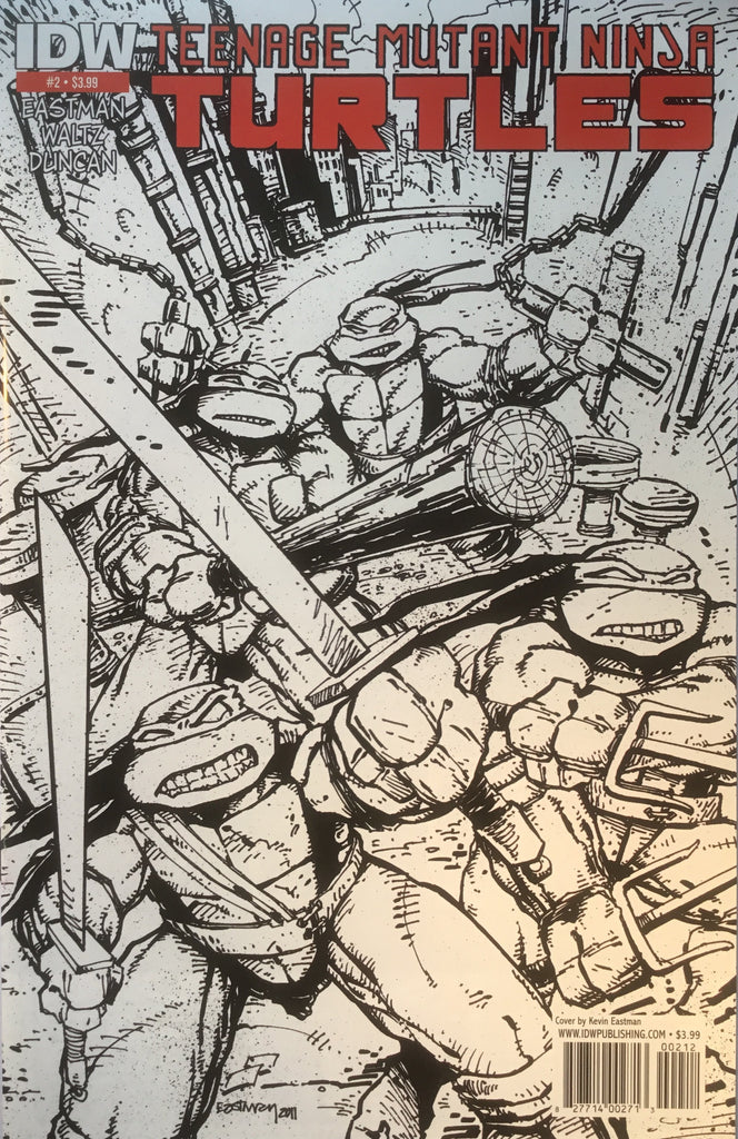 TMNT TEENAGE MUTANT NINJA TURTLES # 02 SECOND PRINTING