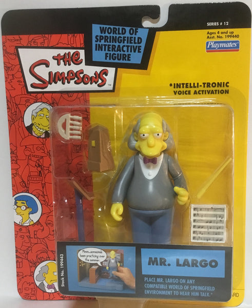 SIMPSONS WORLD OF SPRINGFIELD MR LARGO INTERACTIVE FIGURE
