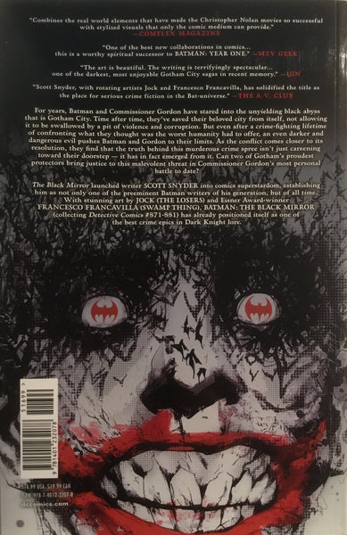 BATMAN THE BLACK MIRROR GRAPHIC NOVEL - Comics 'R' Us