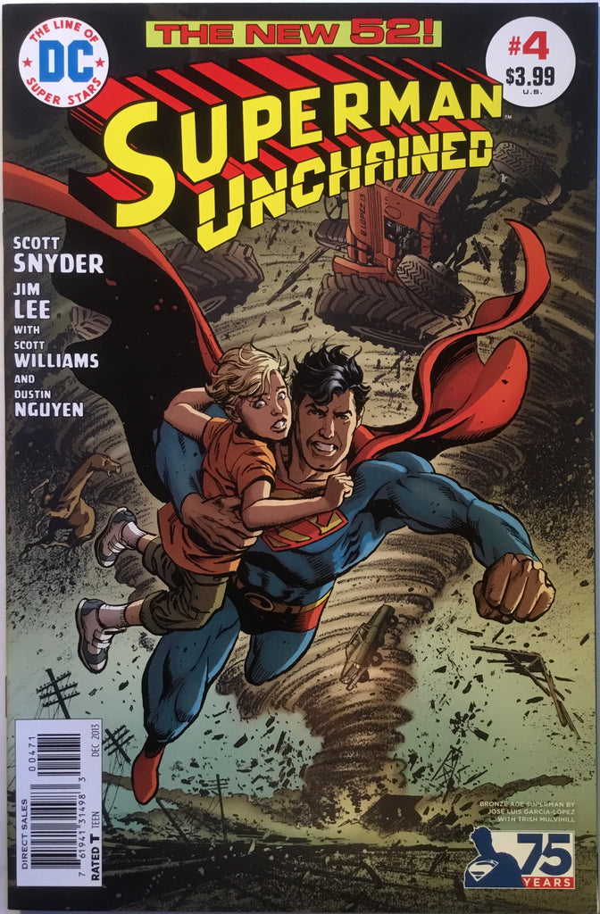 SUPERMAN UNCHAINED # 4 GARCIA-LOPEZ 1:50 VARIANT