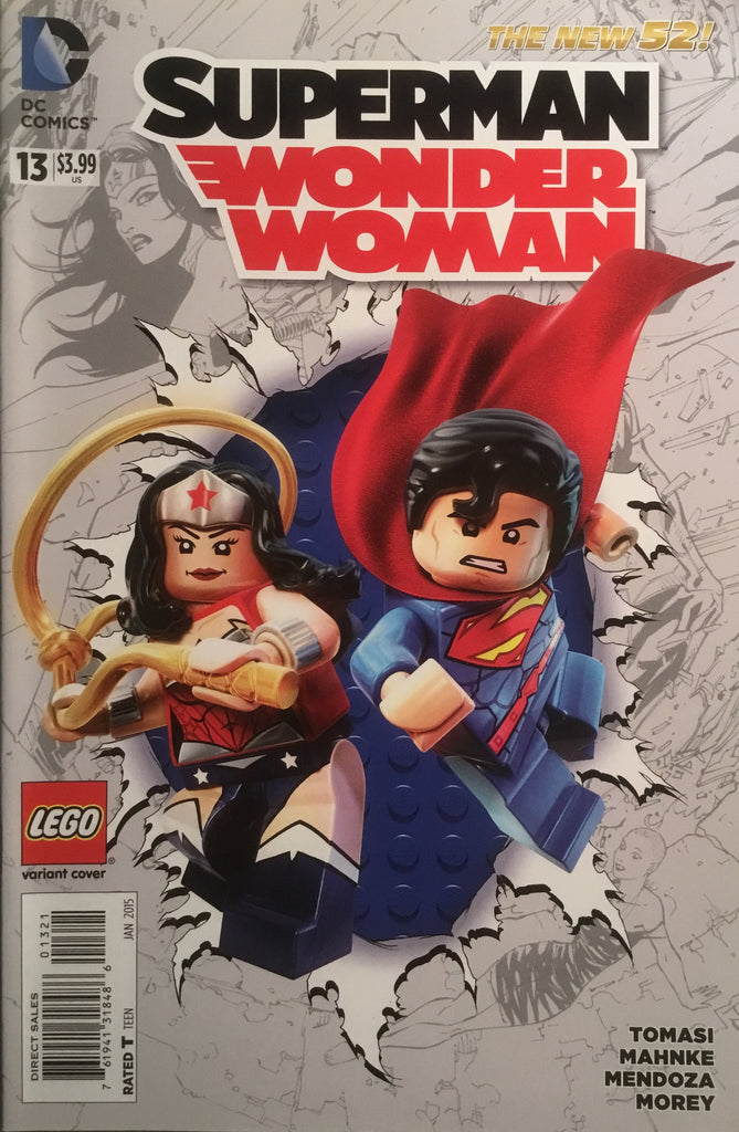 SUPERMAN / WONDER WOMAN #13 (THE NEW 52) LEGO VARIANT COVER