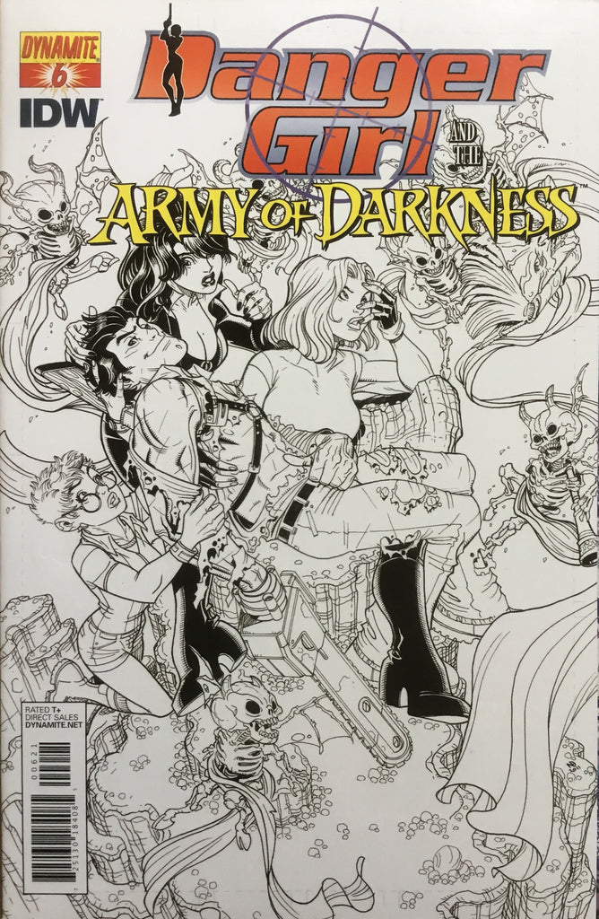 DANGER GIRL AND THE ARMY OF DARKNESS # 6 BRADSHAW SKETCH COVER (1:10 VARIANT) - Comics 'R' Us