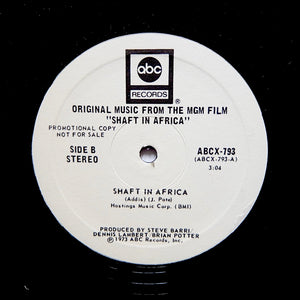 "Johnny Pate ""You Can't Even Walk In The Park (Opening Theme) / Shaft In Africa"" RARE DISCO REISSUE 12"""