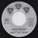 "LEROY ACE MILLER ""Hook Me / Sneak Previews"" PPU BOOGIE 7"""