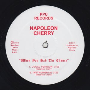 "NAPOLEON CHERRY ""When You Had The Chance"" PPU MODERN SYNTH SOUL 12"""