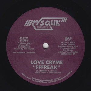 "LOVE CRYME ""Get It On / Fffreak"" RYSQUE SYNTH BOOGIE FUNK 12"""