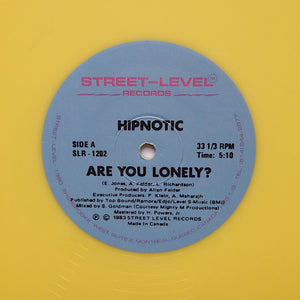 "HIPNOTIC ""Are You Lonely?"" RARE SYNTH BOOGIE FUNK REISSUE 12"" YELLOW VINYL"