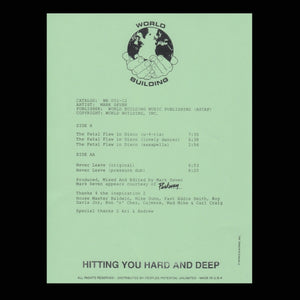 "MARK SEVEN ""The Fatal Flaw in Disco"" WORLD BUILDING TEST PRESSING 12"""