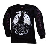 WORLD BUILDING / LONG SLEEVE LOGO T-SHIRT (Black)