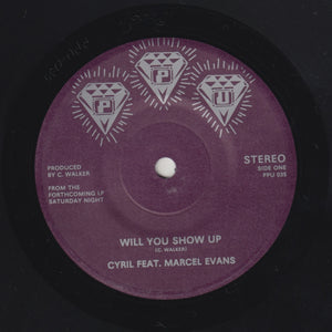 "MARCEL EVANS & MILE HIGH PIE ""Will You Show Up"" PPU BOOGIE FUNK 7"""