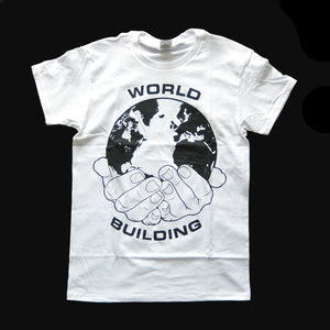 WORLD BUILDING / LOGO T-SHIRT (White)