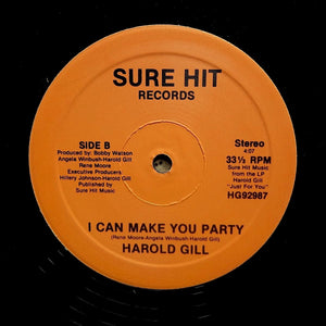 "HAROLD GILL ""I Can Make You Party"" RARE SYNTH BOOGIE FUNK REISSUE 12"""