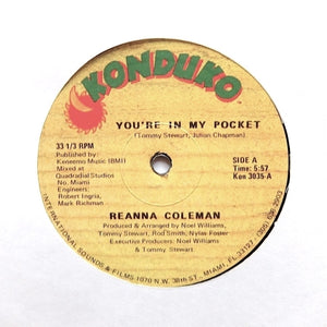 "REANNA COLEMAN ""You're In My Pocket"" PRIVATE BOOGIE FUNK 12"""