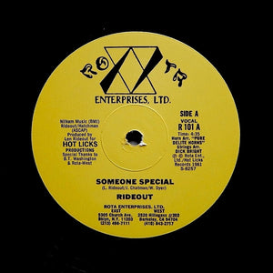"RIDEOUT ""Someone Special"" RARE SYNTH BOOGIE DISCO FUNK REISSUE 12"""