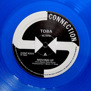 "TOBA ""Moving Up"" COSMIC ITALO SYNTH BOOGIE FUNK 12"" BLUE VINYL"