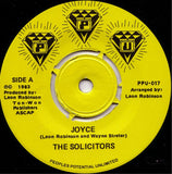 "The SOLICITORS ""Joyce"" PPU-017 MODERN SOUL BOOGIE 7"""