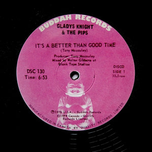 "GLADYS KNIGHT ""Better Than Good Time"" DISCO FUNK REISSUE 12"""
