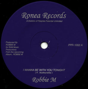 "ROBBIE M ""I Wanna Be With You Tonight"" PPU MODERN SOUL BOOGIE 7"""