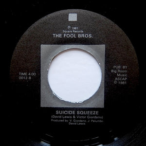 "FOOL BROS ""Suicide Squeeze / Hit Man"" BALTIMORE BOOGIE MODERN SOUL KILLER 7"""