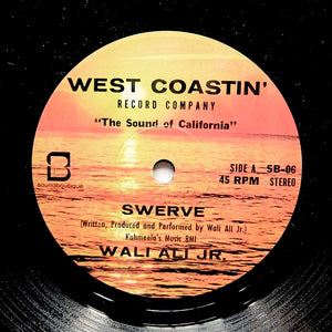 "WALI ALI JR. ""Swerve / Touch Ya Soul"" ULTRA RARE PRIVATE PRESS VOCODER BOOGIE FUNK 7"""