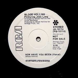 "BLOOD HOLLINS ""How Have You Been"" RARE PROMO DISCO REISSUE 12"""