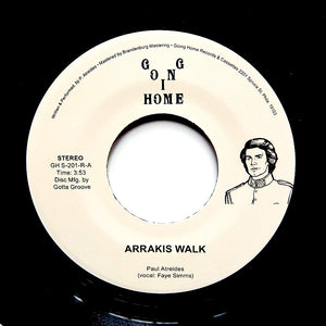 "PAUL ATREIDES ""Arrakis Walk / Thinking Machines"" COSMIC SYNTH FUNK 7"""