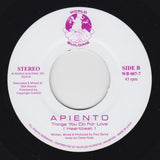 "APIENTO ""Things You Do For Love"" WORLD BUILDING AMBIENT DUB HOUSE 7"""