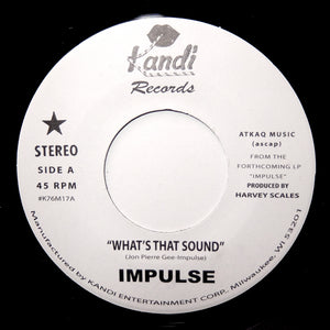"IMPULSE ""What's That Sound / You Changed Me"" UNKNOWN MODERN SOUL DISCO AOR 7"""
