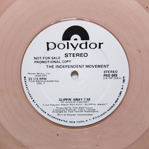 "INDEPENDENT MOVEMENT ""Slipping Away"" SOUL DISCO PROMO REISSUE 12"" - COLOR VINYL"