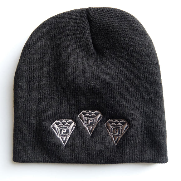 Ppu Skull Cap ~ Black Knit Ski Hat