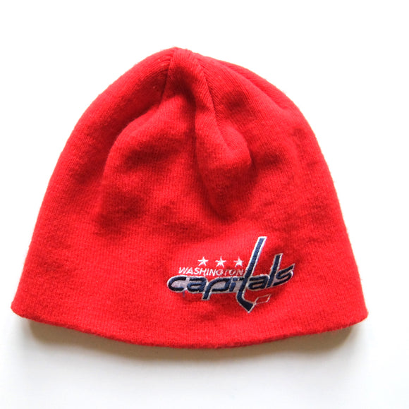 Washington Capitals ~ Vintage ~ Rare Reebok NHL Hockey Embroidered Ski Knit Winter Hat Beanie