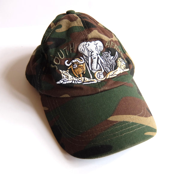 South Africa ~ Vintage ~ Rare Camouflage Camo Kwaito Safari Flag Dad Cap Hat