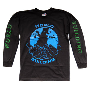 "World Building / Long Sleeve ""Fluorescent"" Logo T-Shirt (Black)"