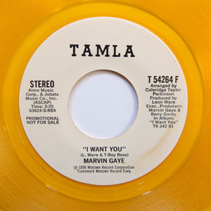 "MARVIN GAYE ""I Want You"" RARE PROMO YELLOW VINYL 7"""
