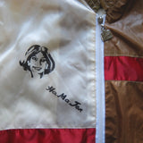 VINTAGE HA MA JEN TAIWAN SATIN BASEBALL VARSITY JACKET WOMENS  (Large)