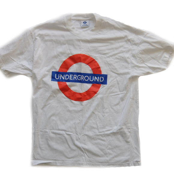 Underground ~ Vintage ~ Rare Y2k Brit-Pop Grime UKG London England Subway Official T-Shirt (XL)